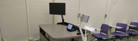 Classroom Equipment: Lectern with monitor and document camera