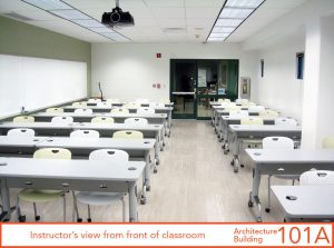 Instructor's view from front of classroom
