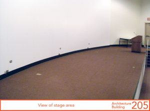 View of stage area