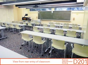 View from rear entry of classroom