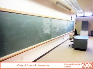 View of front of classroom