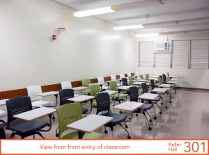 View from front entry of classroom