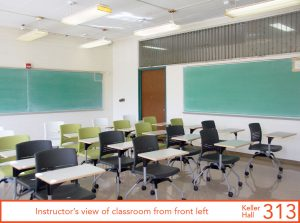 Instructor's view of classroom from front left