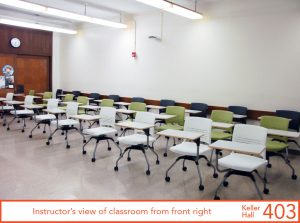 Instructor's view of classroom from front right