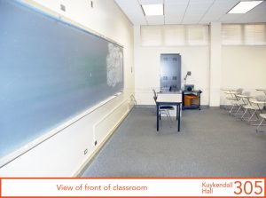 View from front of classroom
