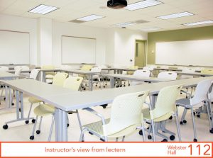 Instructor's view from lectern