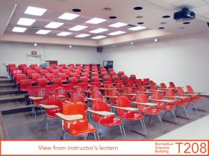 View from instructor's lectern