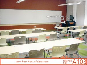 View from back of classroom