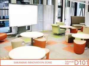 View of smart board area