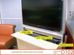 HDMI calbe, VGA cable w/audio, and remote control