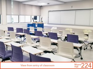 View from entry of classroom
