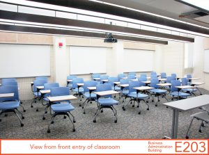View from back entry of classroom
