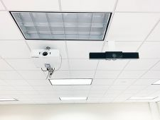 Webcam installed next to existing projector